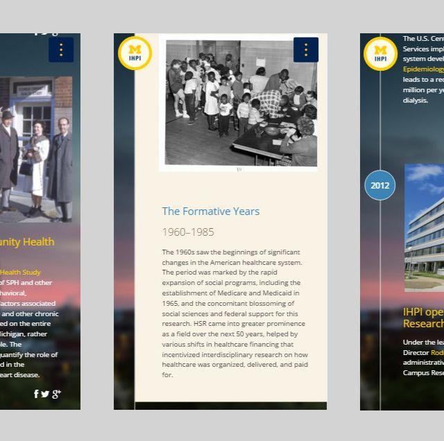 IHPI Timeline Website Mobile View